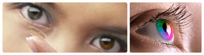 Цветные и тонированные контактные линзы