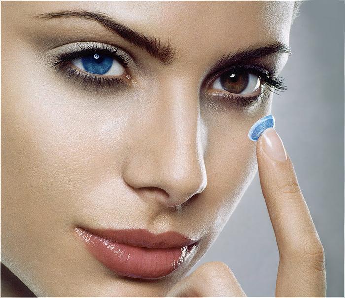 Цветные оттеночные контактные линзы